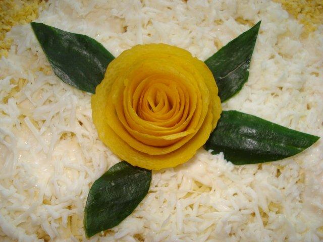 Украшение из лимона салатов фото